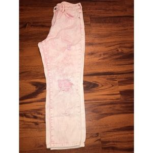 """PacSun pink """"Mom"""" Jeans"""